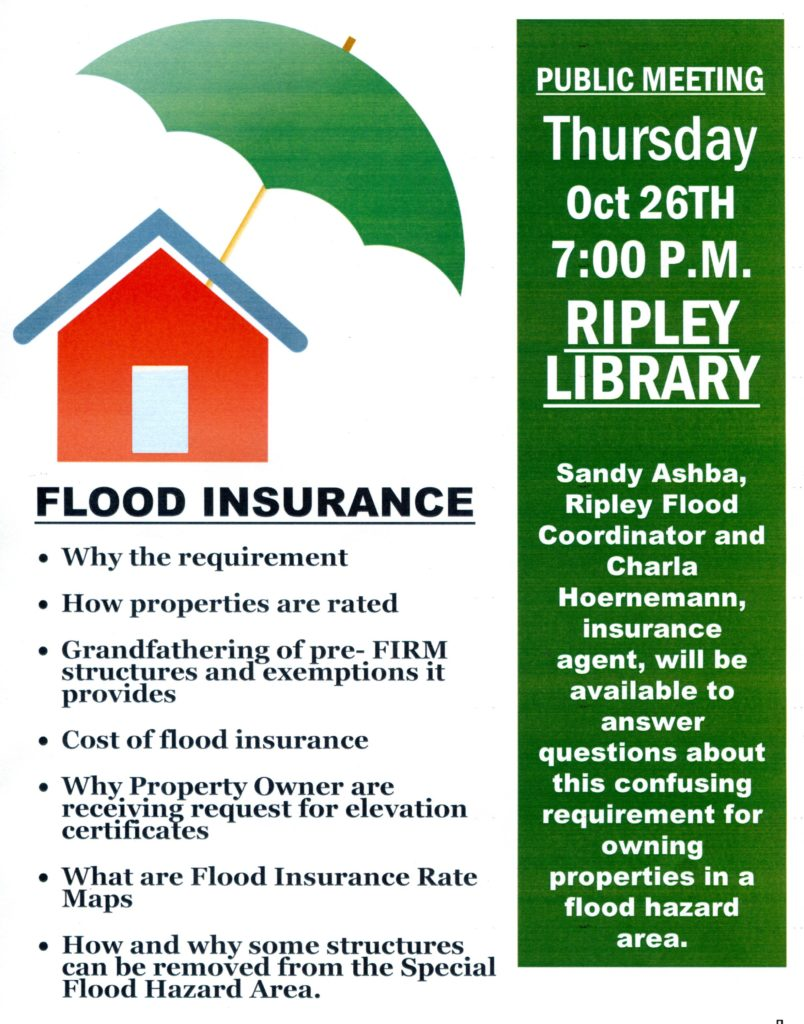 Flood Insurance Program – October 26, 2017