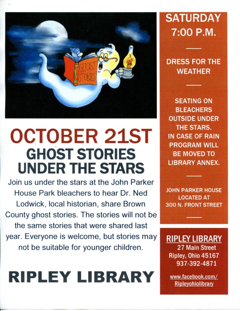 Ghost Stories Under the Stars – October 21, 2017