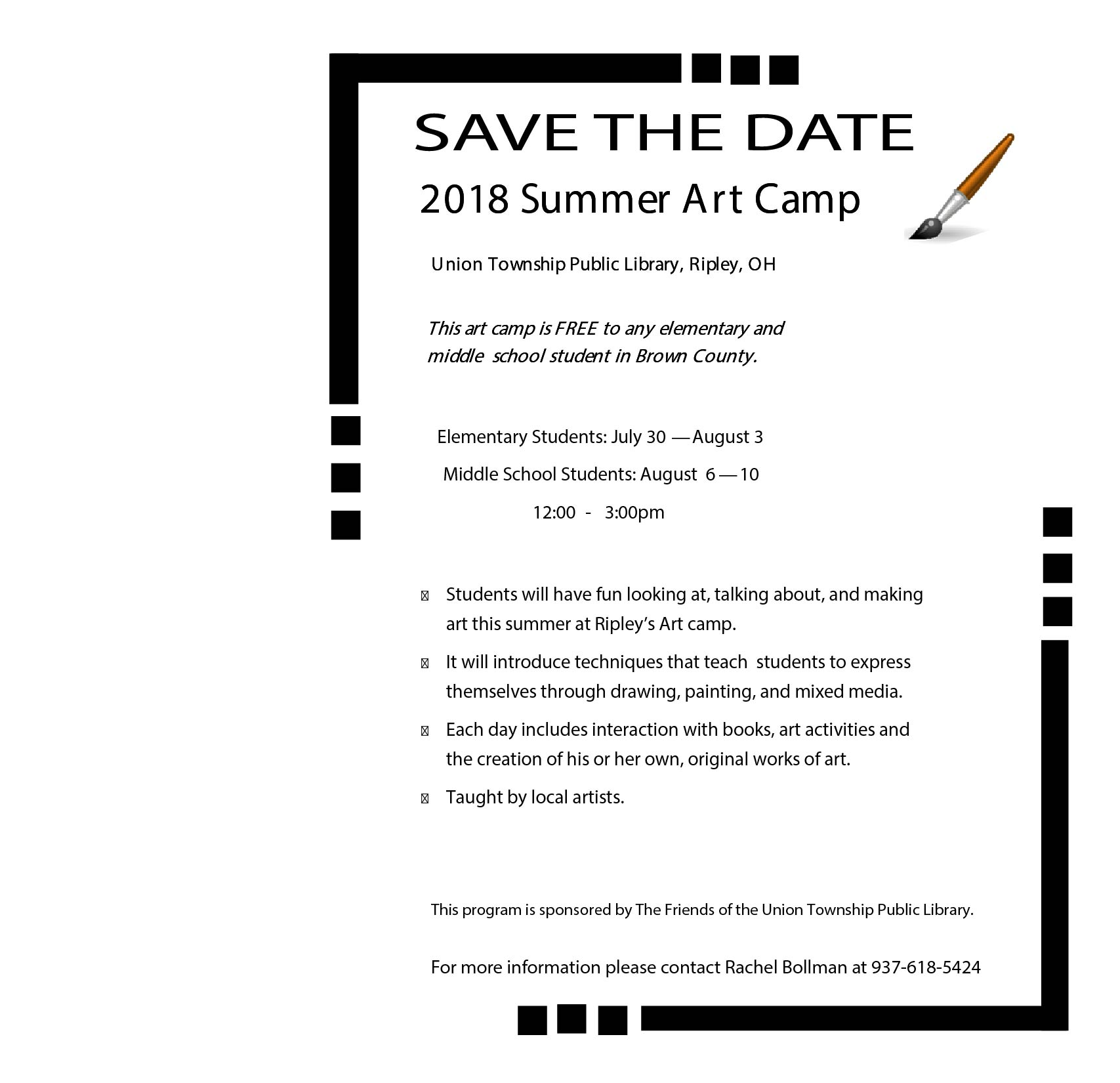 Brown County Art Club - Elementary Students