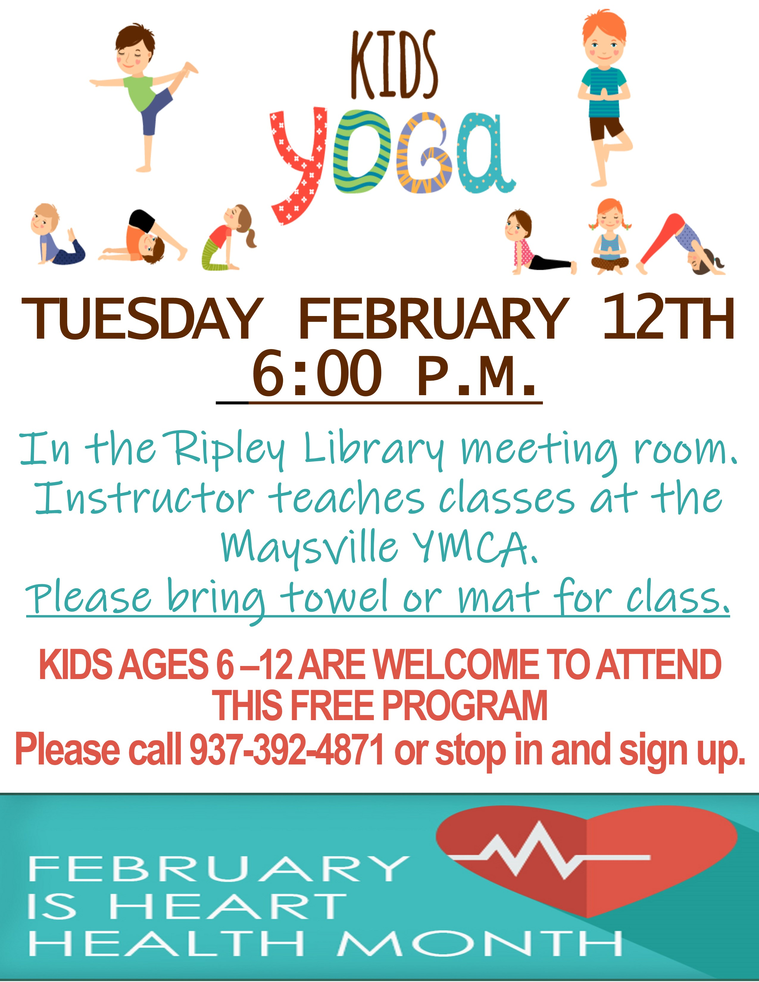 Kid's Yoga - Ripley Branch