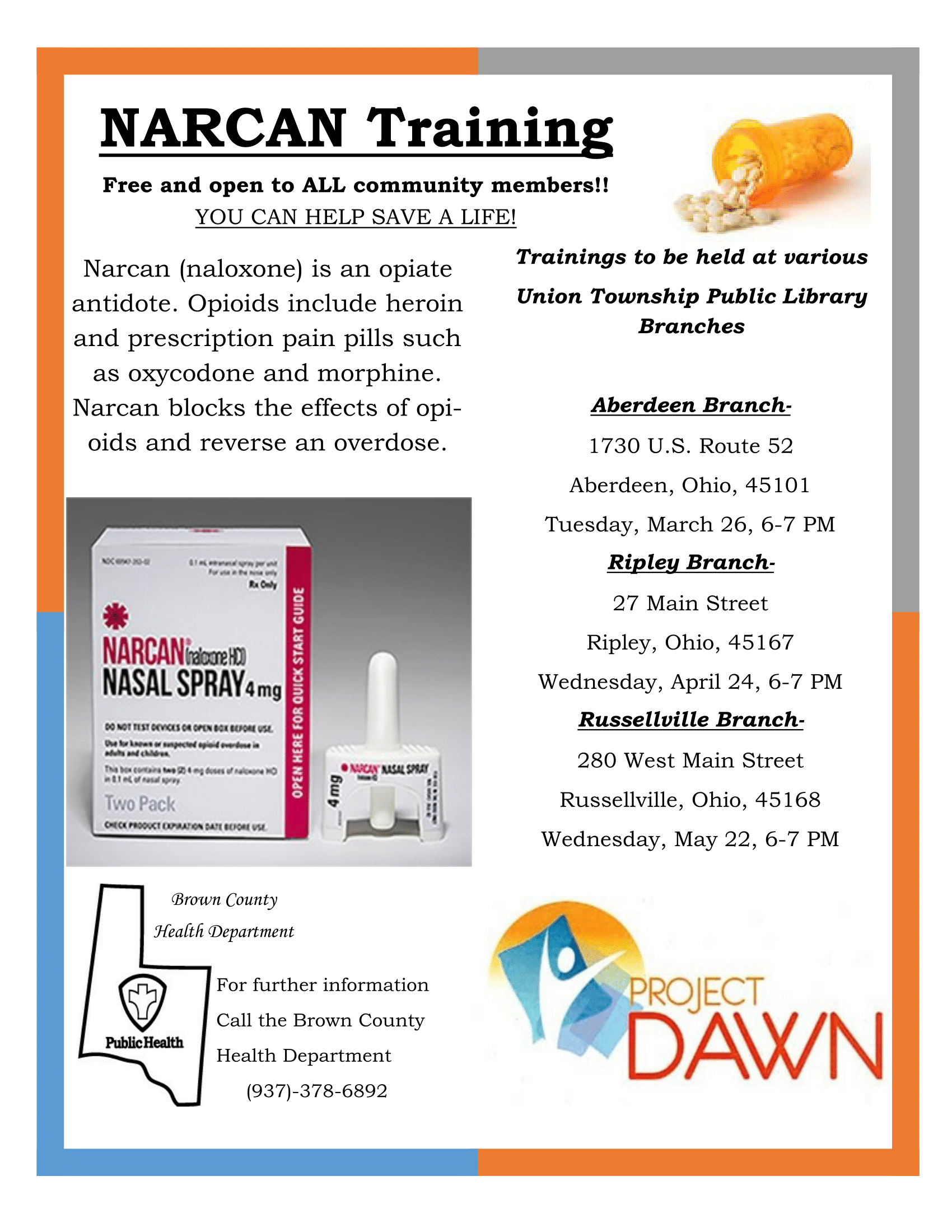 Narcan Training - Ripley Branch