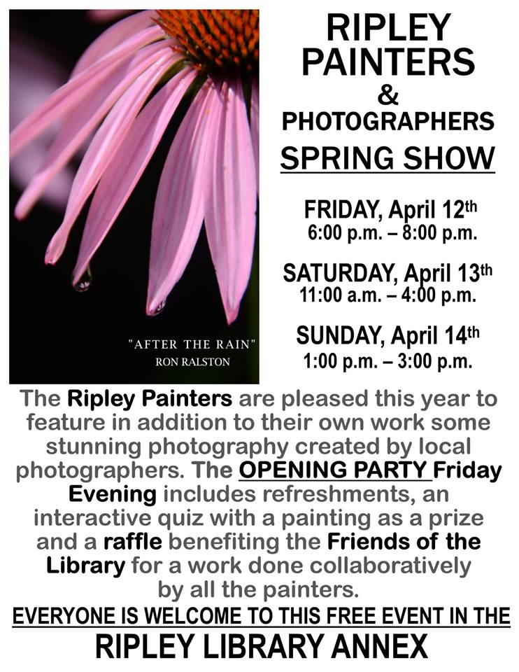 Ripley Painters and Photographers Spring Show
