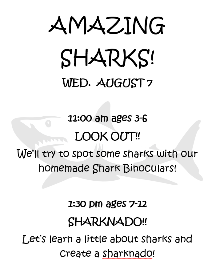 Amazing Sharks! 3 to 6 Year Olds