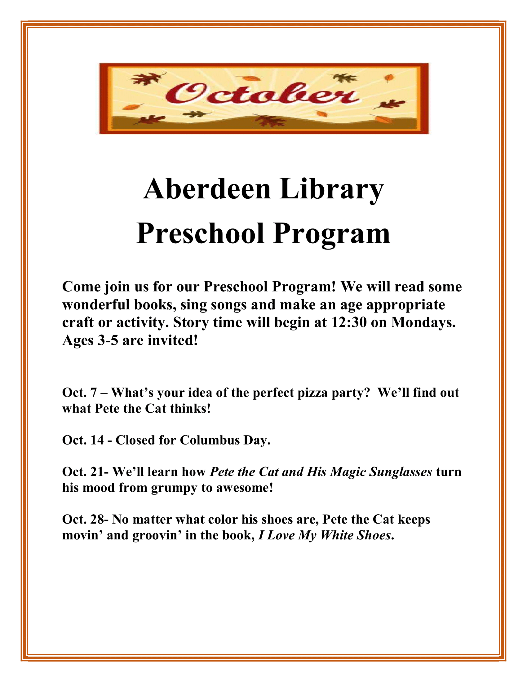 Preschool Program - Aberdeen