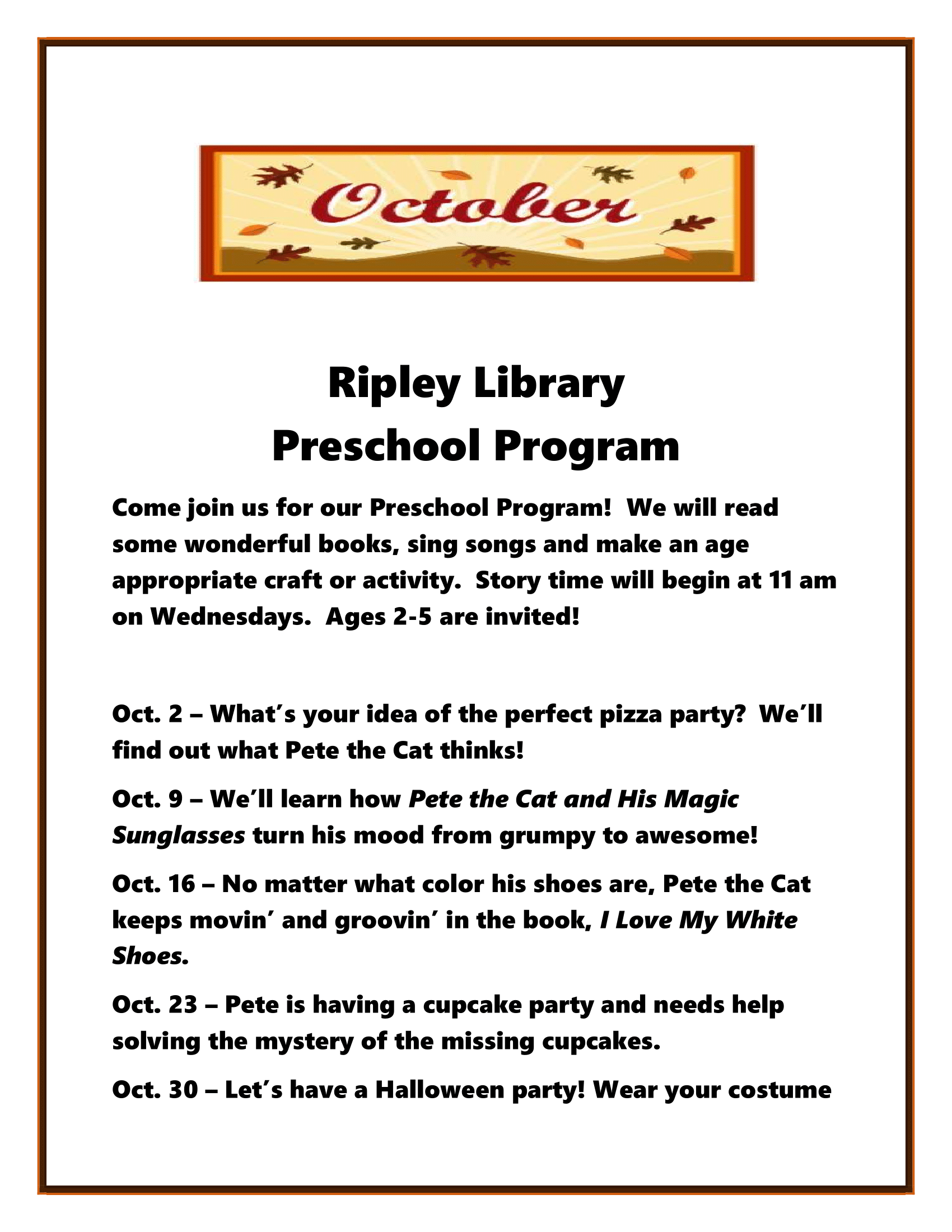 Preschool Program - Ripley
