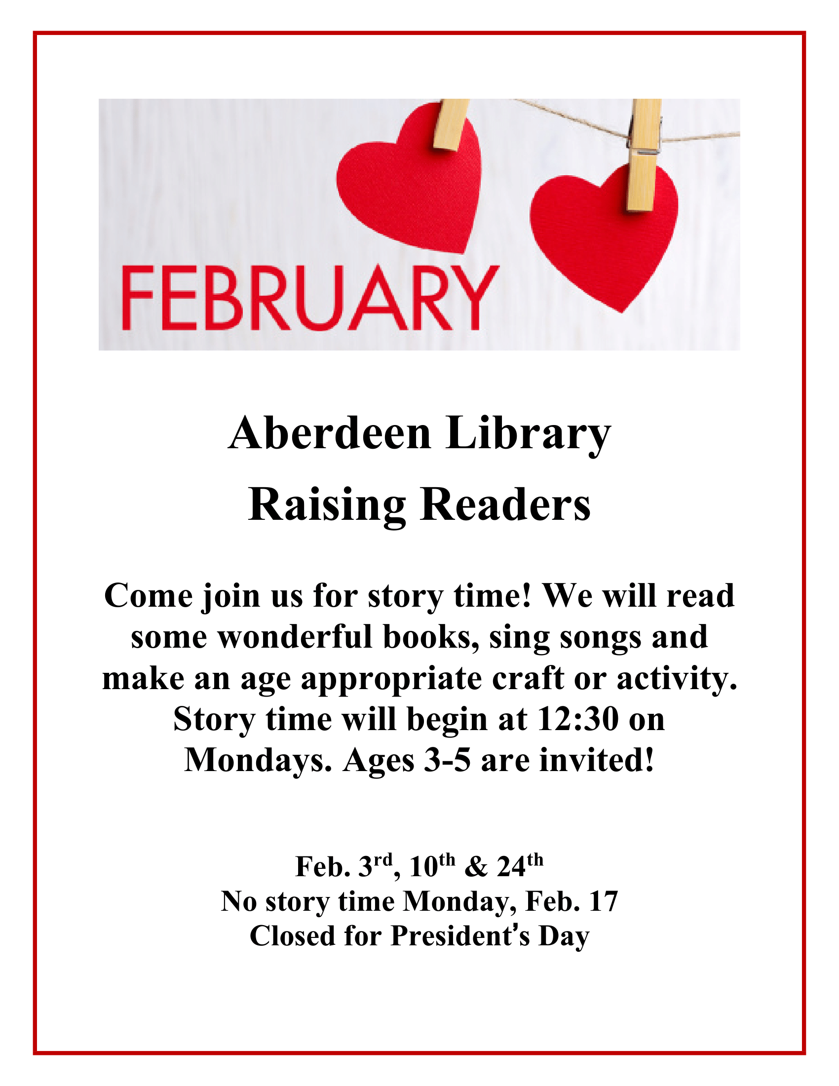 STORY TIME - ABERDEEN